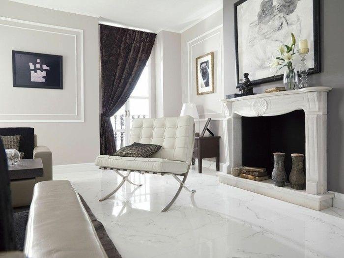 fliesen im wohnzimmer mit designer mbeln - Luxus Wohnzimmer Fliesen