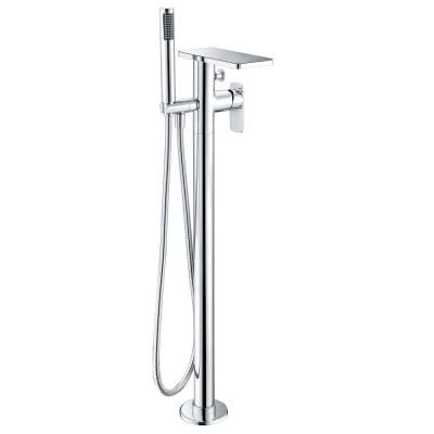 Alfi Brand Double Handle Freestanding Tub Faucet With Handheld In