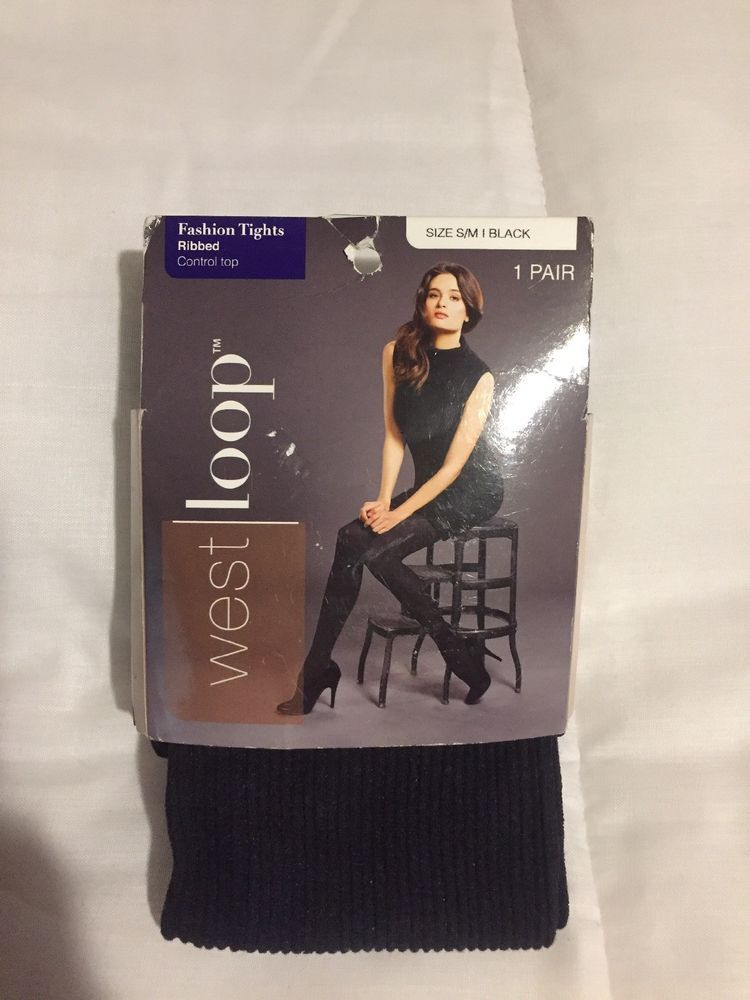 6280187cb5ce9 Womens Black Ribbed Tights West Loop Size Small / Medium #fashion #clothing  #shoes #accessories #womensclothing #hosierysocks (ebay link)