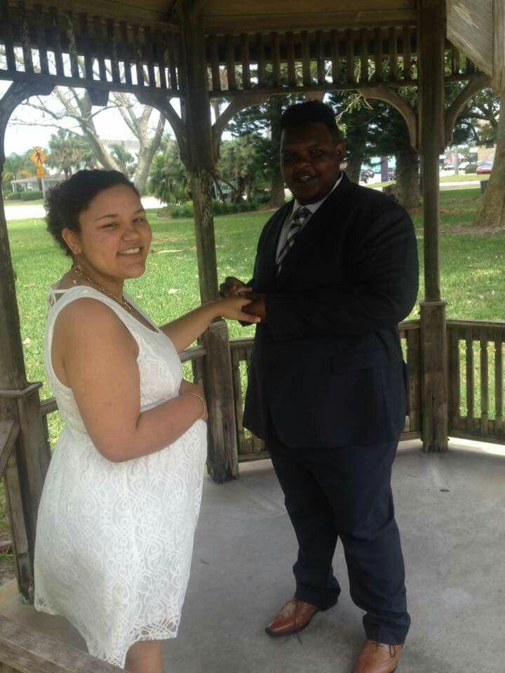 Jaymanda and her new husband.