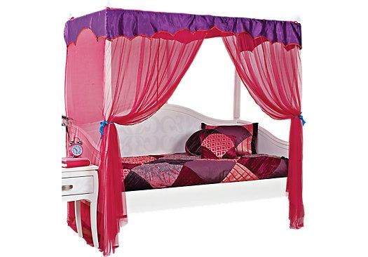 Belle Noir White 4 Pc Canopy Daybed Bedroom Furniture Stores Daybed Canopy Rooms To Go Furniture