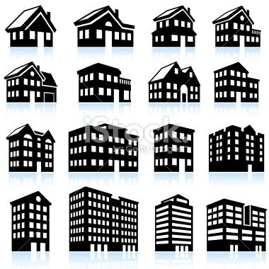 black and white apartment building clip art. house and apartment icons black white vector art illustration stock 20125668 3d building