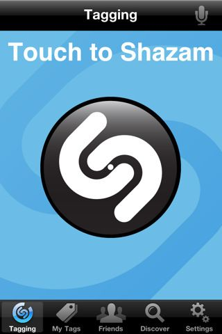 Shazam Listens to music and identifies the song playing