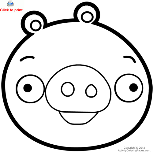 Green pig from angry birds coloring page christmas and winter green pig from angry birds coloring page pronofoot35fo Images