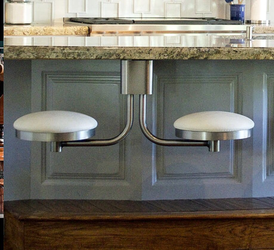 Kitchen Island Bar Stools Pictures Ideas Tips From: Suspended Swing Out Stools - Cool Idea!