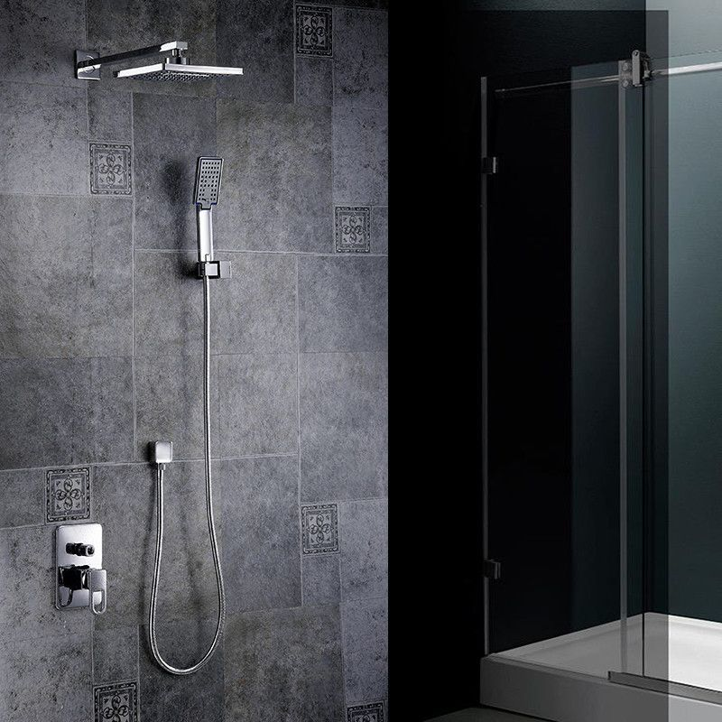 Buy Fast High Quality Bathroom Chrome Concealed Rainfall Square ...