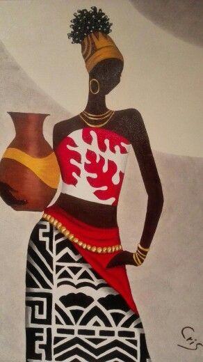 Africanas negras Pintura Moderna