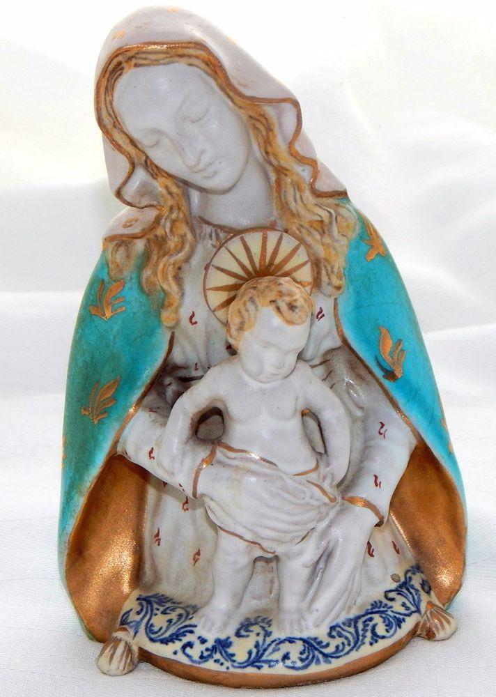 8e66ce1dfe7a EPF Eugenio Pattarino - Madonna and Child Sculpture - Signed ...