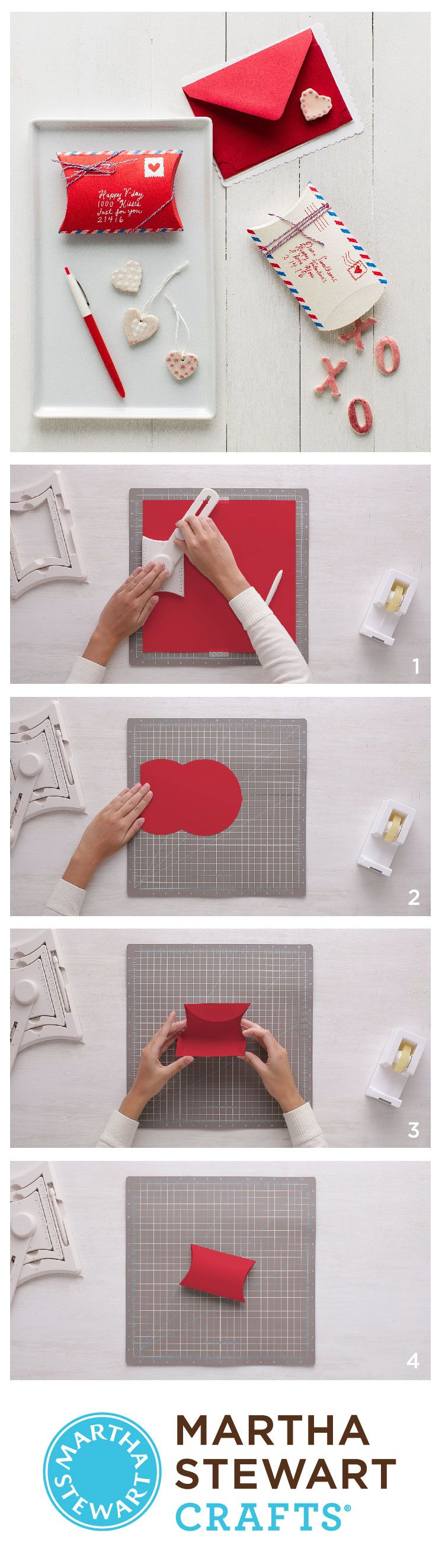 DIY customizable pillow boxes with the Martha Stewart Crafts Gift Box Maker.