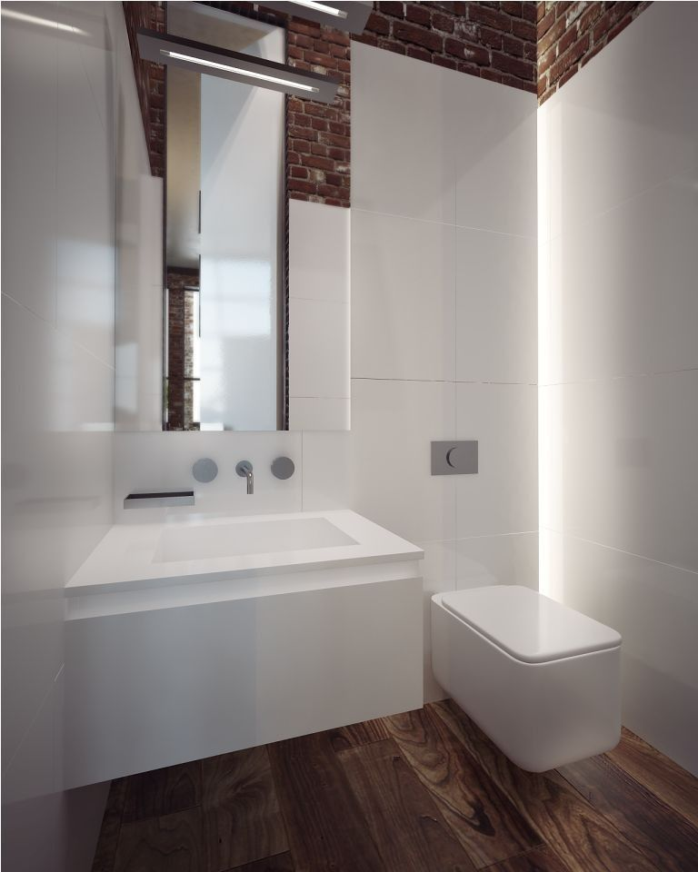 Reforma #baño de paredes alicatadas con azulejo blanco, sanitarios ...