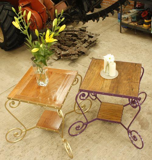 Mesitas para jard n adorables madera hierro hotmail - Mesas de hierro para jardin ...