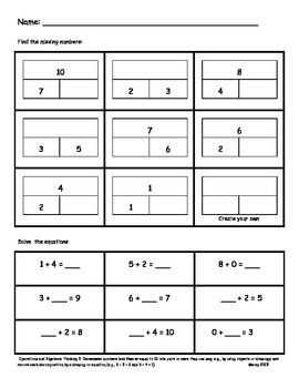 Part Part Whole Assessments Or Worksheets With Images Math