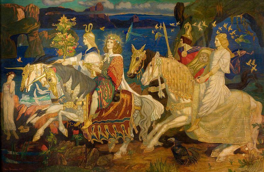 John Duncan Painting - Riders Of The Sidhe | Tuatha de danann, Sidhe, Celtic  myth