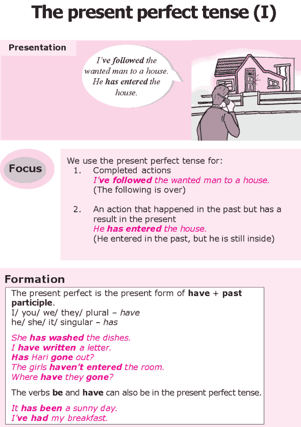 present perfect texts Aim of this study is to see how one grammar item, the present perfect, is taught in  the finnish efl text books as already mentioned there are.