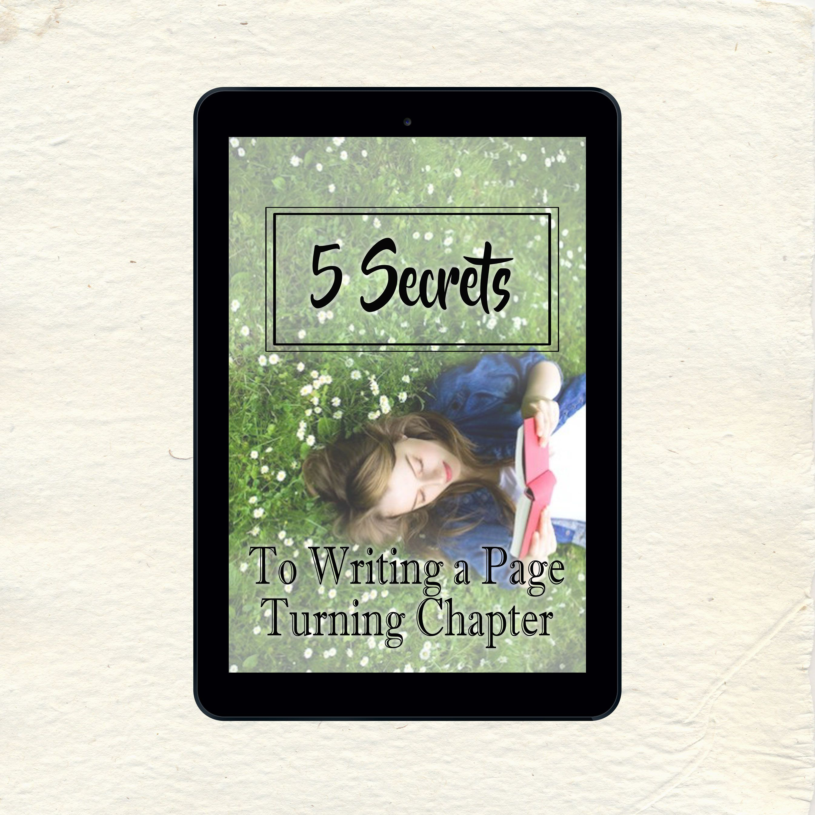5 Secrets to writing a Page Turning Chapter now on my Workbooks page! #AutumnWriting #writingtips #writingcraft