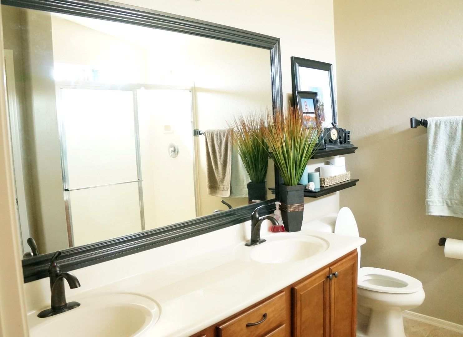How To Frame A Bathroom Mirror #DIY #Tutorial (I Had No Idea That