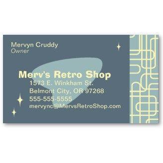 Retro business card mid century modern style pinterest retro business card colourmoves