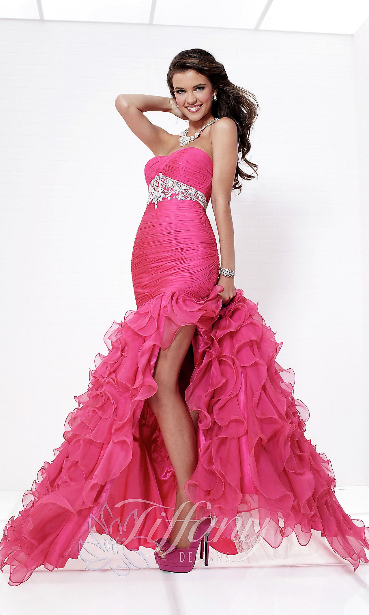 Strapless Ball Gown by Tiffany | Let\'s Dress Up | Pinterest