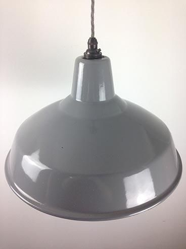 Vintage 14″ grey benjamin pendant light £105 00 ex vat