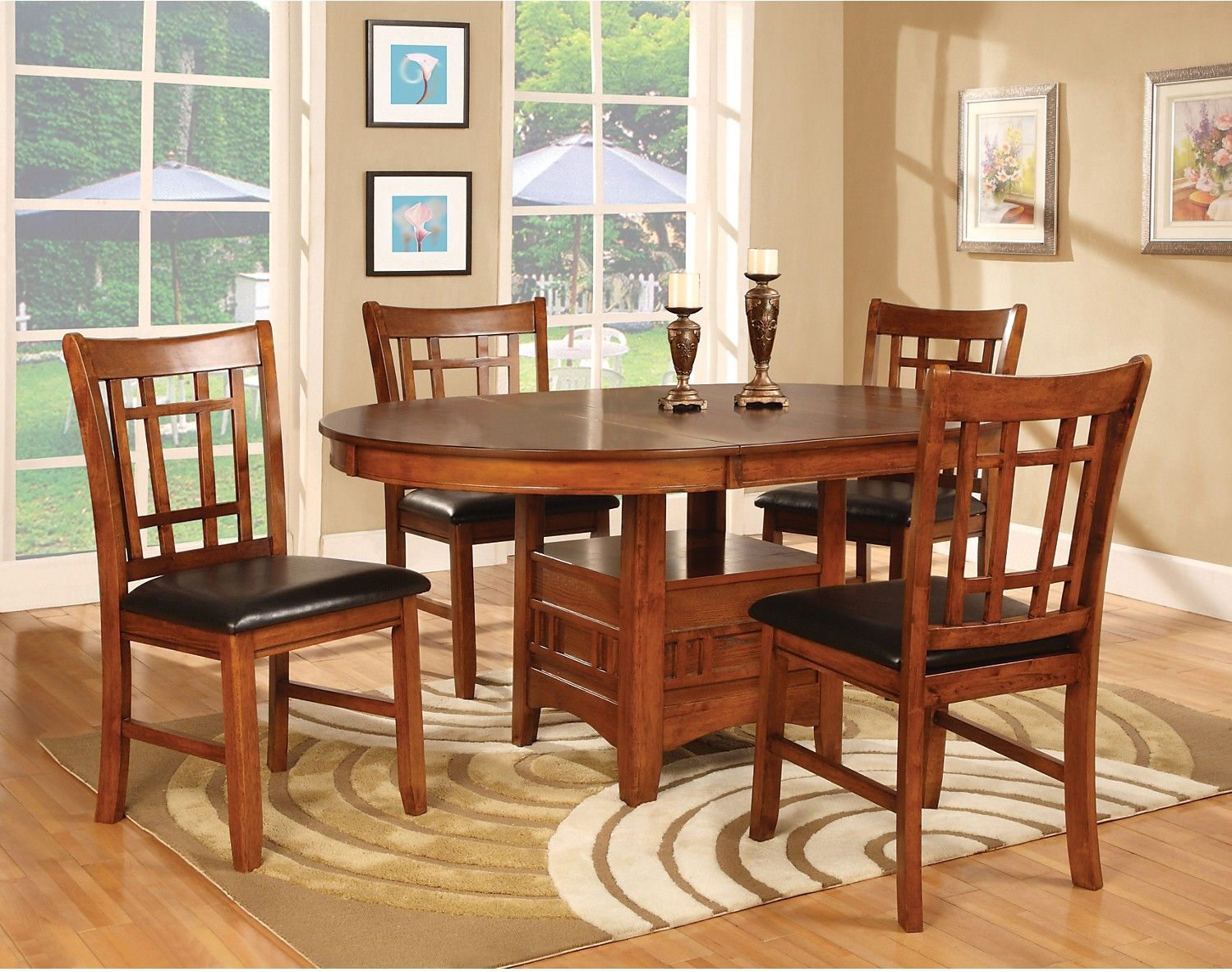 Dining Room Furniture Dalton 7 Piece Package Oak