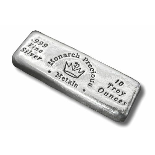 10 Oz Monarch Hand Poured Loaf Silver Bar New Silver Bars Silver Bullion Silver