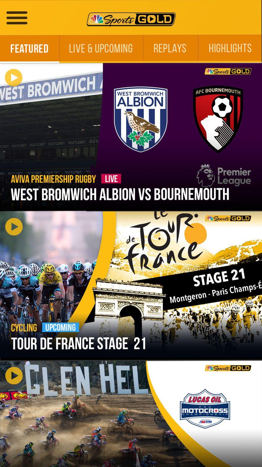 Nbc Sports Gold Entertainment Llc Apps Ios Nbc Sports West Bromwich