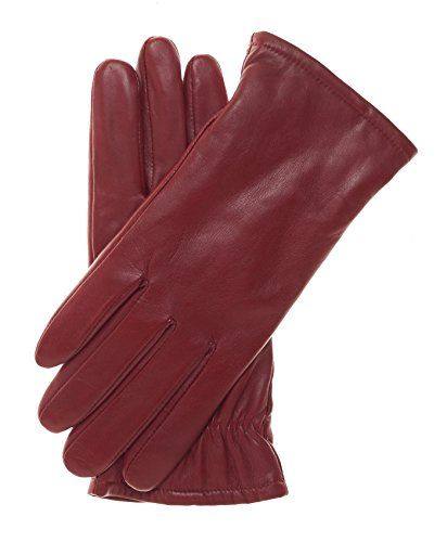 Pratt and Hart Women's Classic Thinsulate Lined Leather Gloves Size 7 Color Red