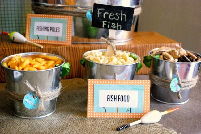 Down on the bayou dessert table boy bash for Fishing theme party ideas