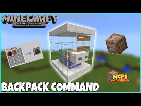 Mcpe Only Command | Working BackPack Command | Mcpe Command Block
