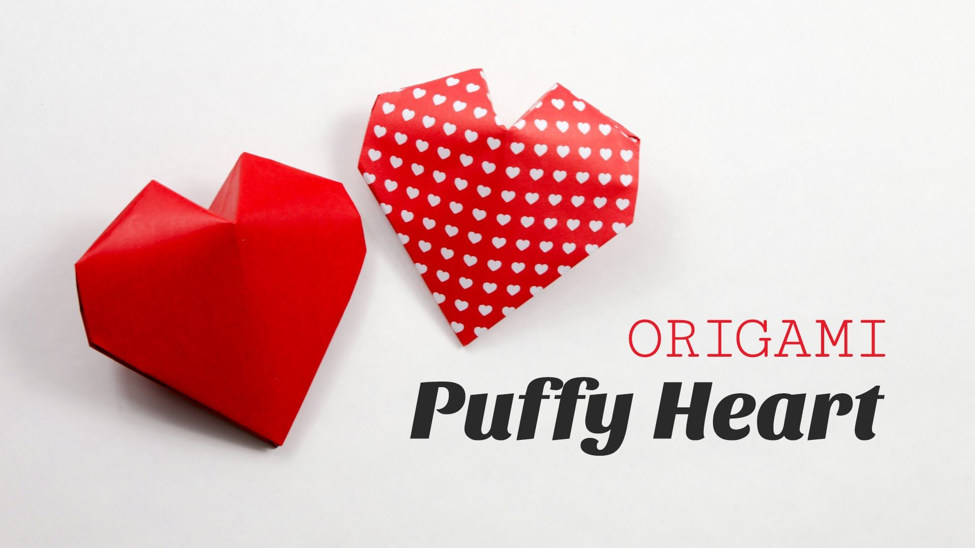 learn how to fold a cute 3d origami heart for valentines