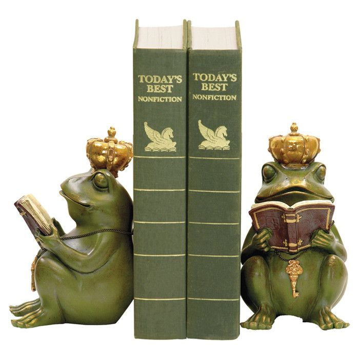 Frog King Bookend (Set of 2)