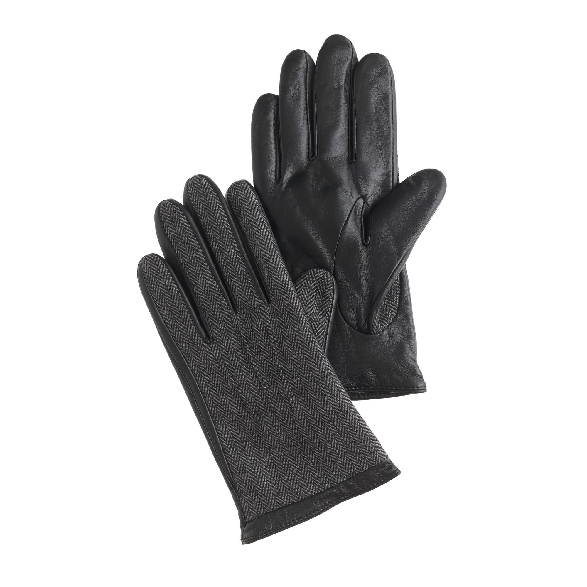 Womens leather smartphone gloves - Tweed And Leather Smartphone Gloves Mens J Crew Look At Women S Too