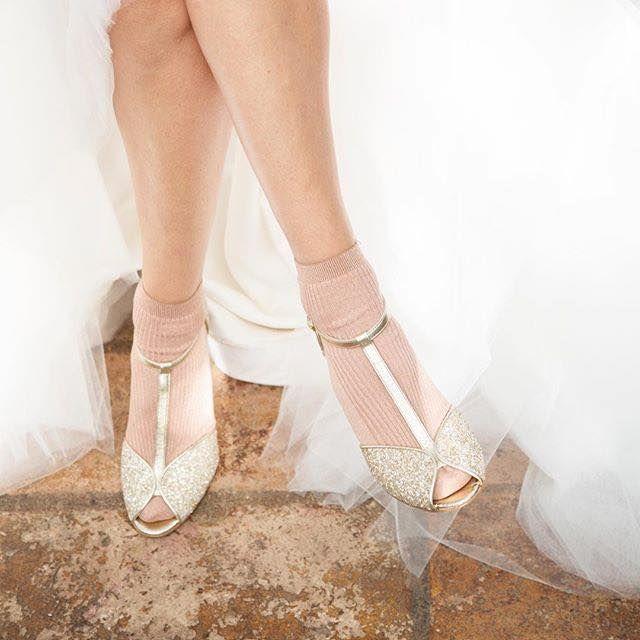 chaussettes pour sandales de mariage à talons