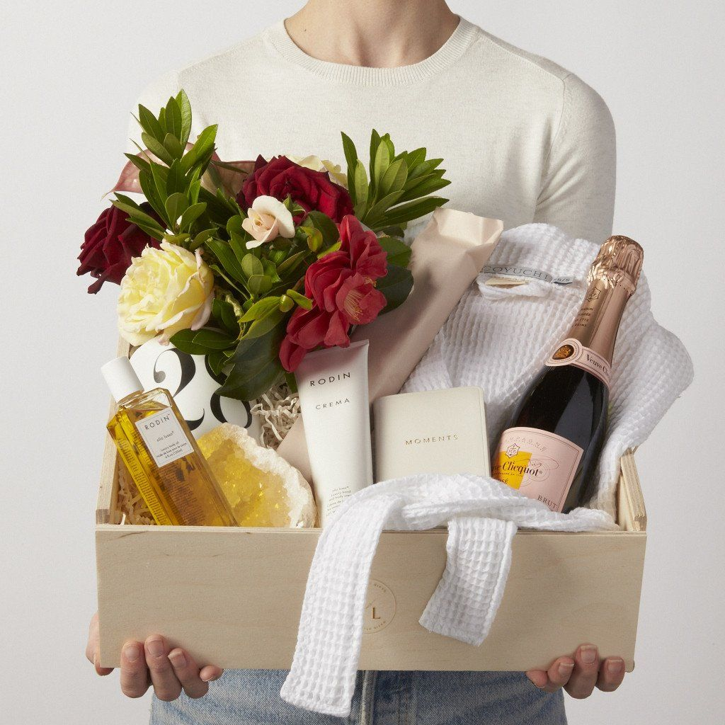Indulgence Spa Gift Box With Flowers Champagne Gift Ideas