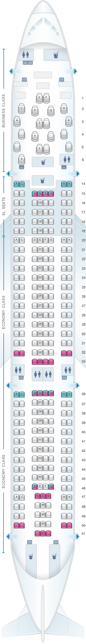 Seat Map airberlin Airbus A330 200