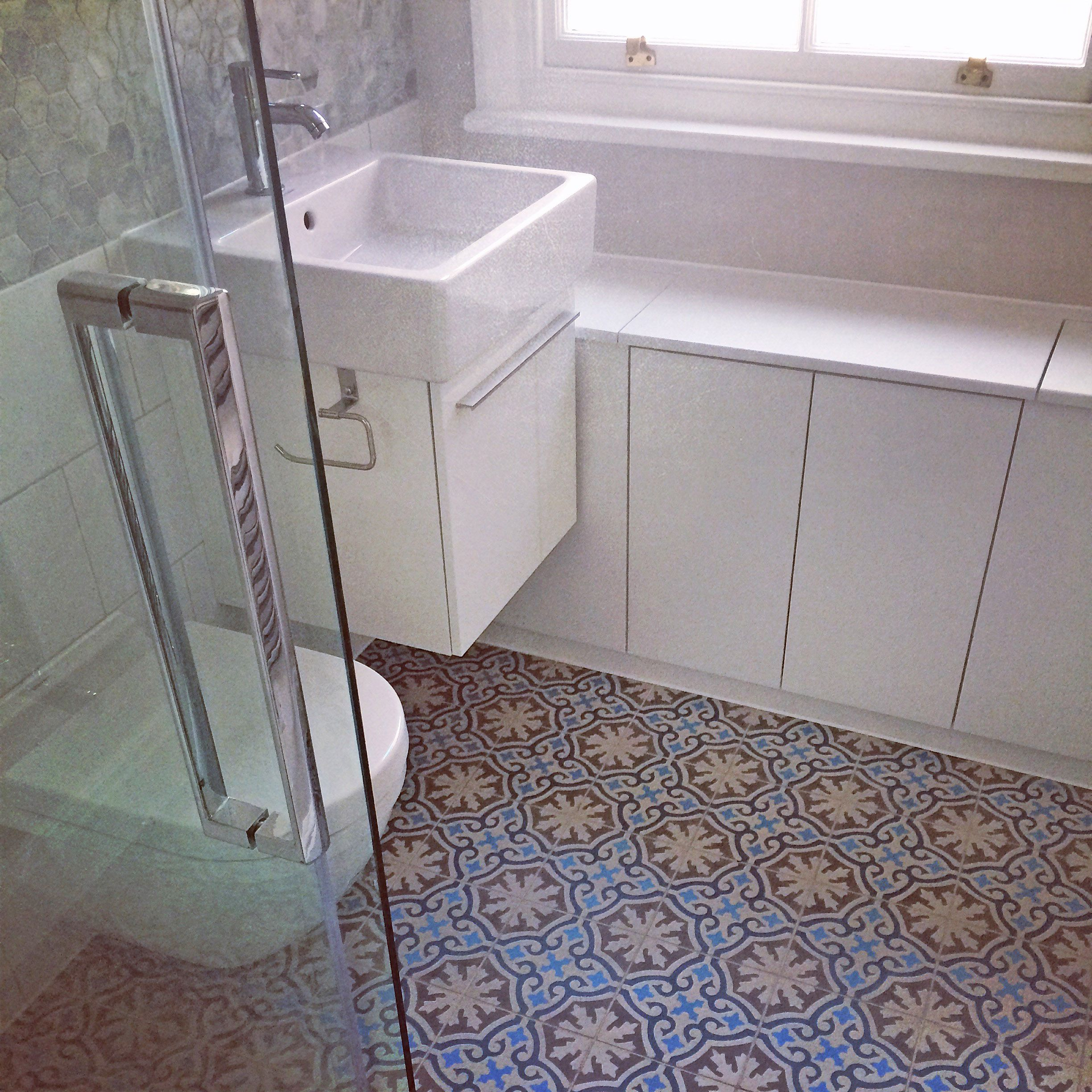 Beautiful Bathroom Bins apm. finished bathroom with beautiful terrazzo cement tiles