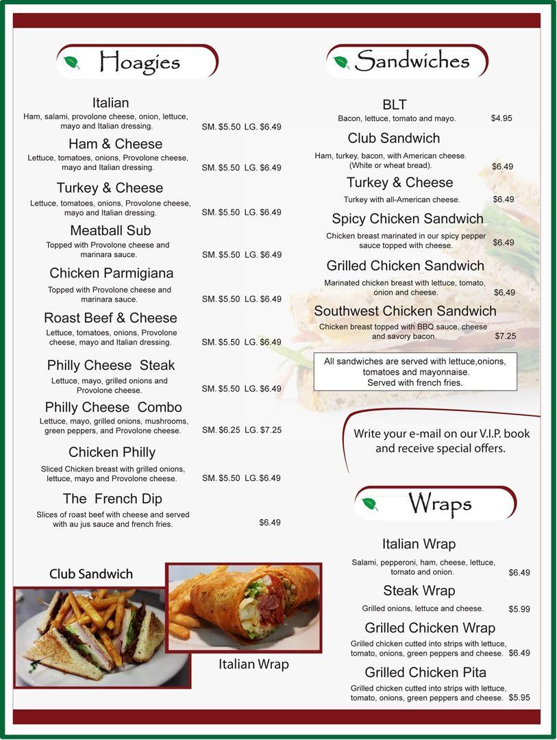 Italian-American Menu | Recipes To Cook | Pinterest | Sample Menu