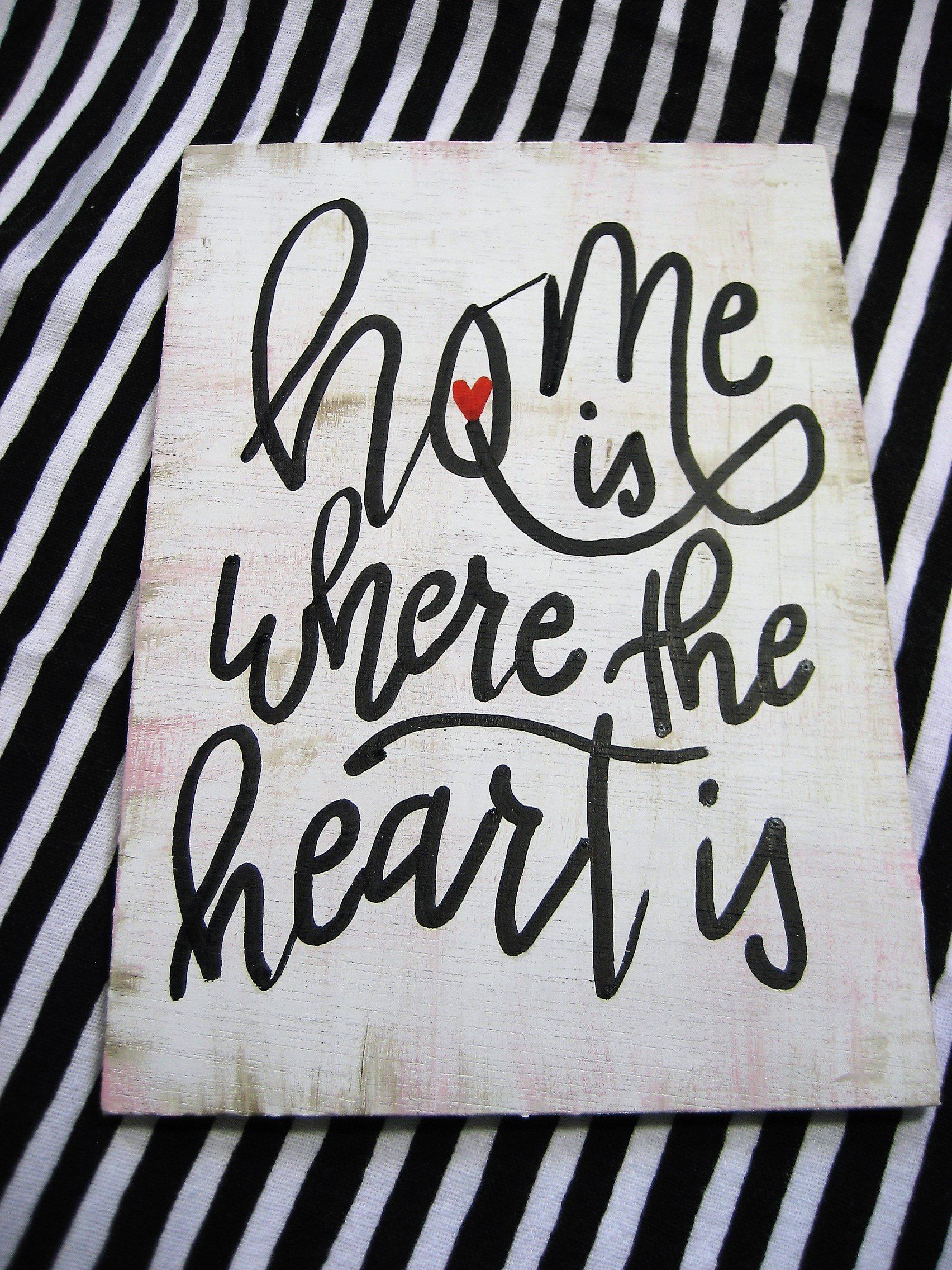 Handpainted Home Is Where The Heart Is Wood Sign 5x7 Farmhouse Sign House Warming Gift House Warming Gifts Home Signs Cute Signs,Best Wireless Charging Station For Apple Watch And Iphone