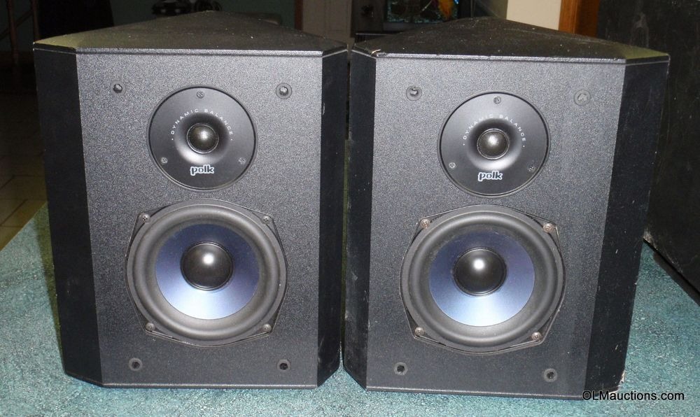 Polk Audio Fx300i Bipolar Surround Speakers W Wall Mounts 0 99 Starting Bid Polk Audio Speakers Polk Audio Surround Speakers