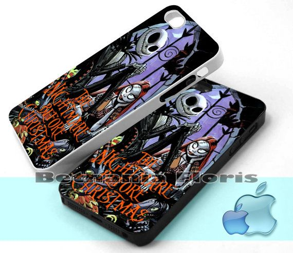 The Nightmare Before Christmas Jack & Sally - Print on hardplastic for iPhone 4/4s and 5 case, Samsung Galaxy S3/S4 case.