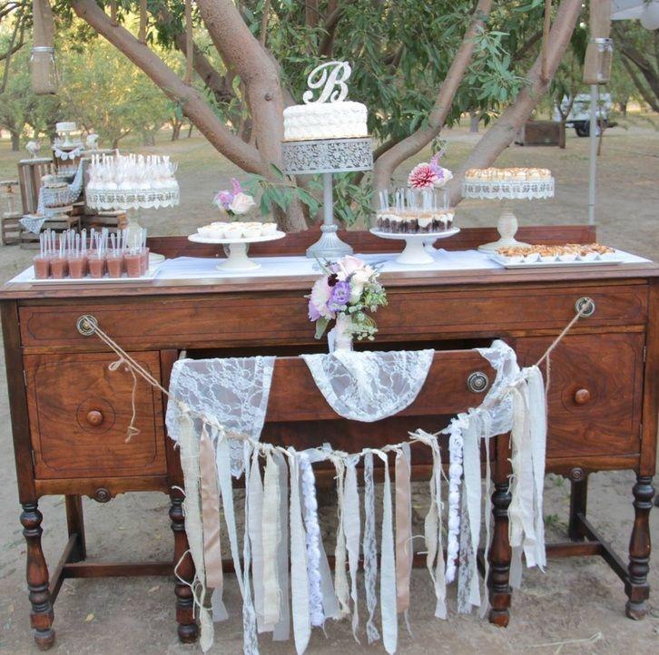 Vintage Dessert Table// Wedding Dessert Buffet
