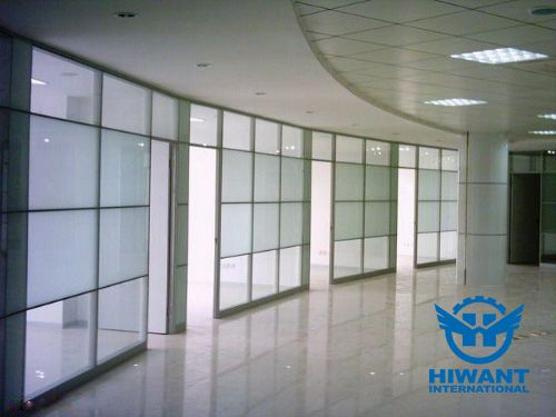 Aluminium Profile Glass Partition Walls For Shopping Malls