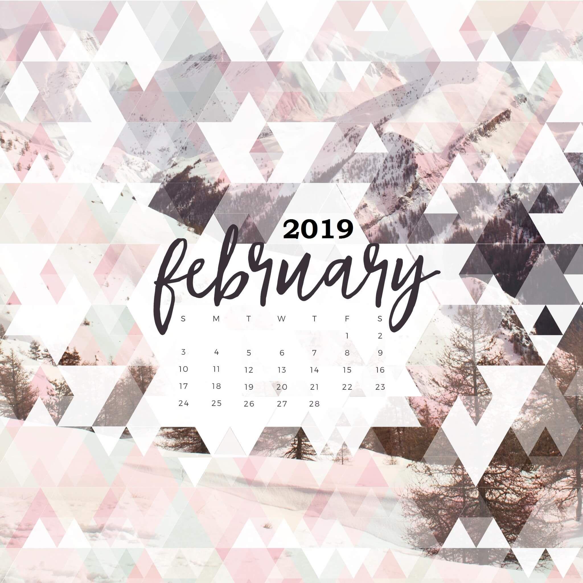 February 2019 Calendar Desktop February 2019 Desktop Calendar Wallpaper #February2019