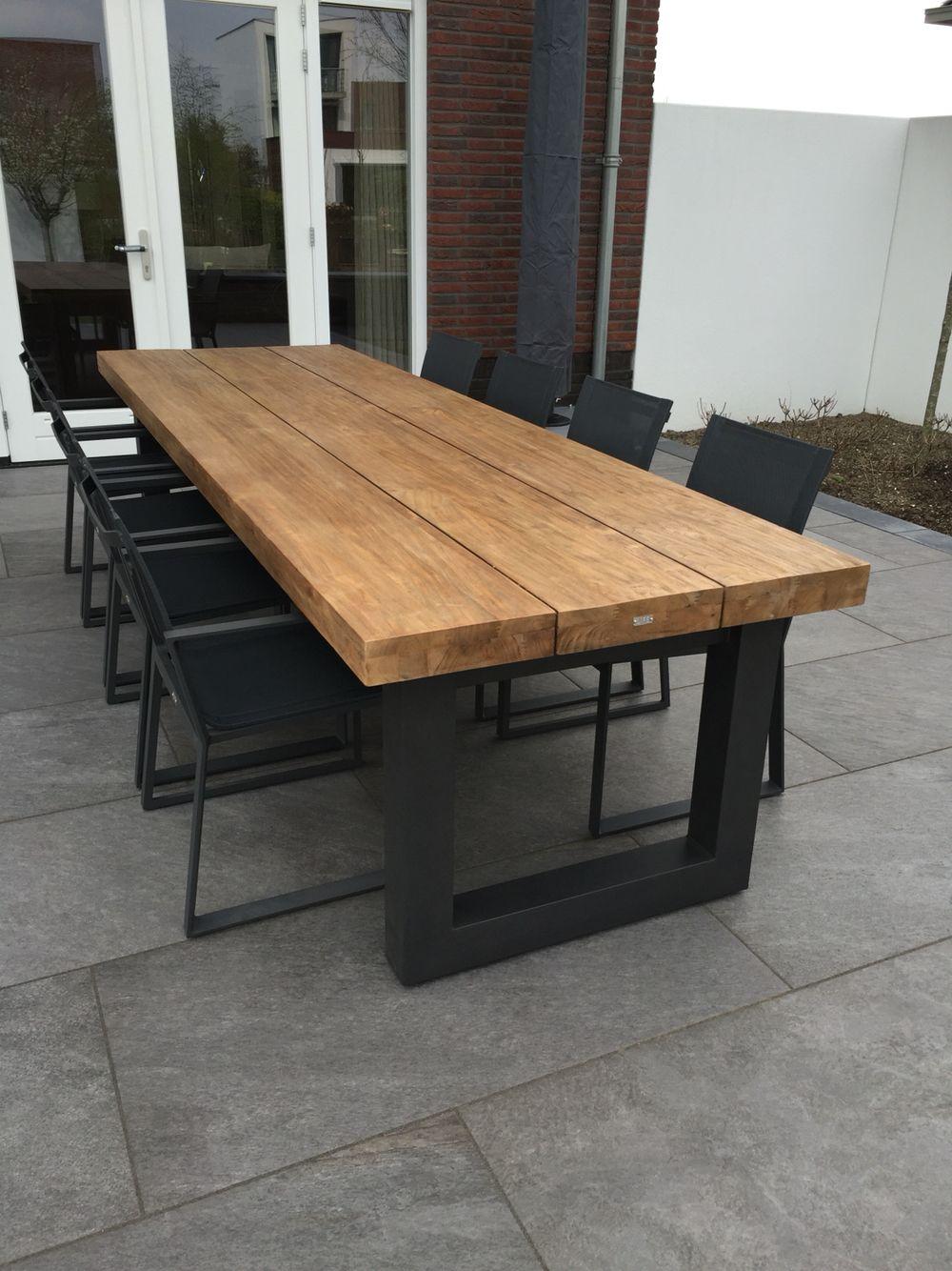 Stoere Tuin Tafel Wohnzimmer In 2019 Gartentisch Loungemobel