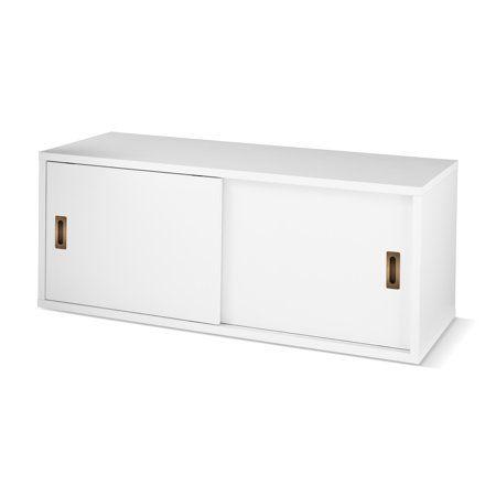 Home White Storage Cabinets Door Storage Room Shelves