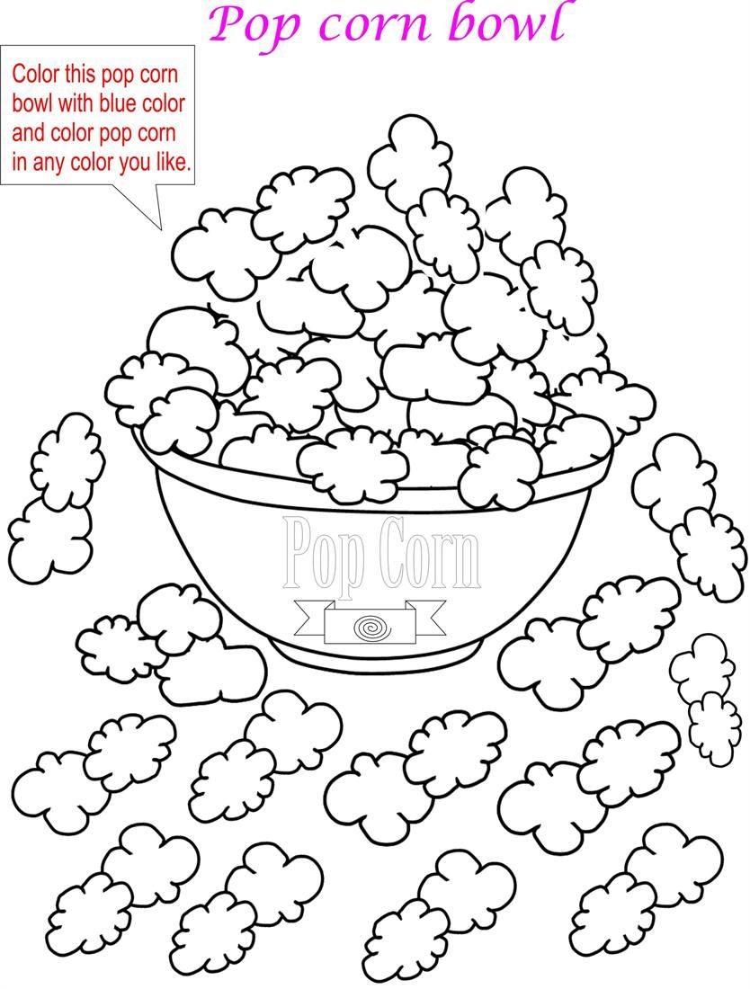 Popcorn Maze Printable
