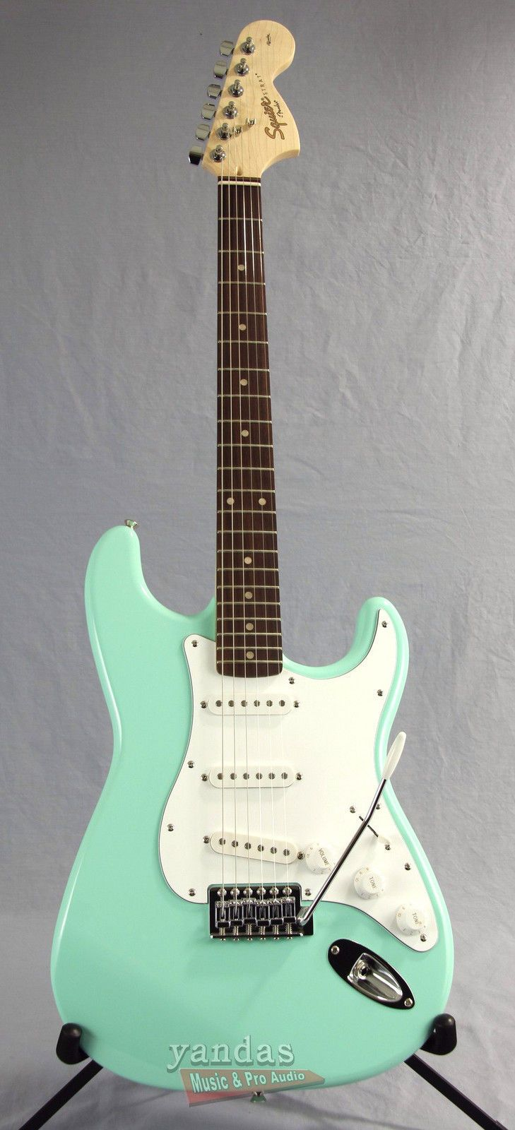 Squier Affinity Stratocaster In Surf Green Squier Electric Guitar Cool Electric Guitars