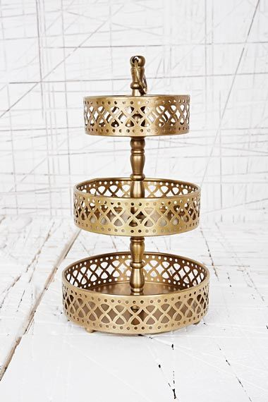 Three Tier Jewellery Stand At Urban Outfitters Jewellery