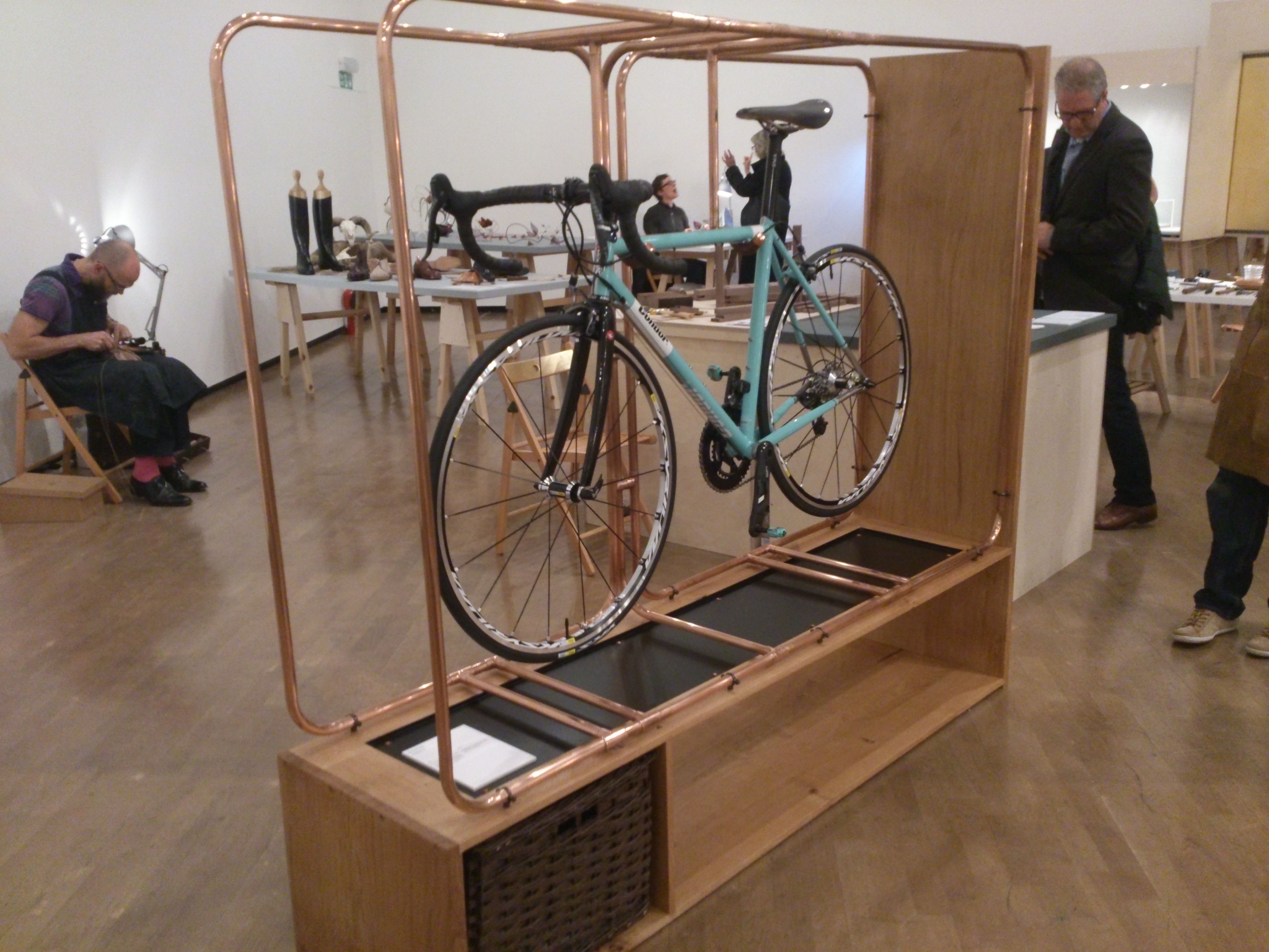 The most magnificent bike stand you'll ever see. By Method Studio @ Walpole Crafted.
