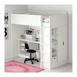 Ikea Stuva Loft Bed With 2 Shelves Doors White